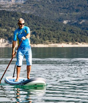 location stand up paddle camping treffort